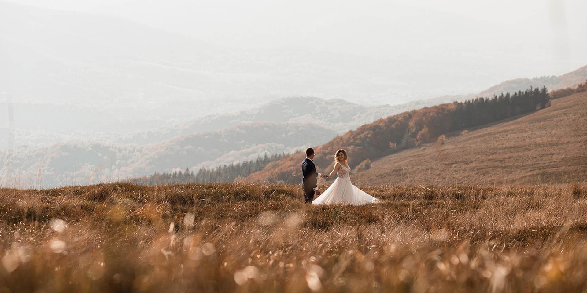 Plener śluby w Bieszczadach