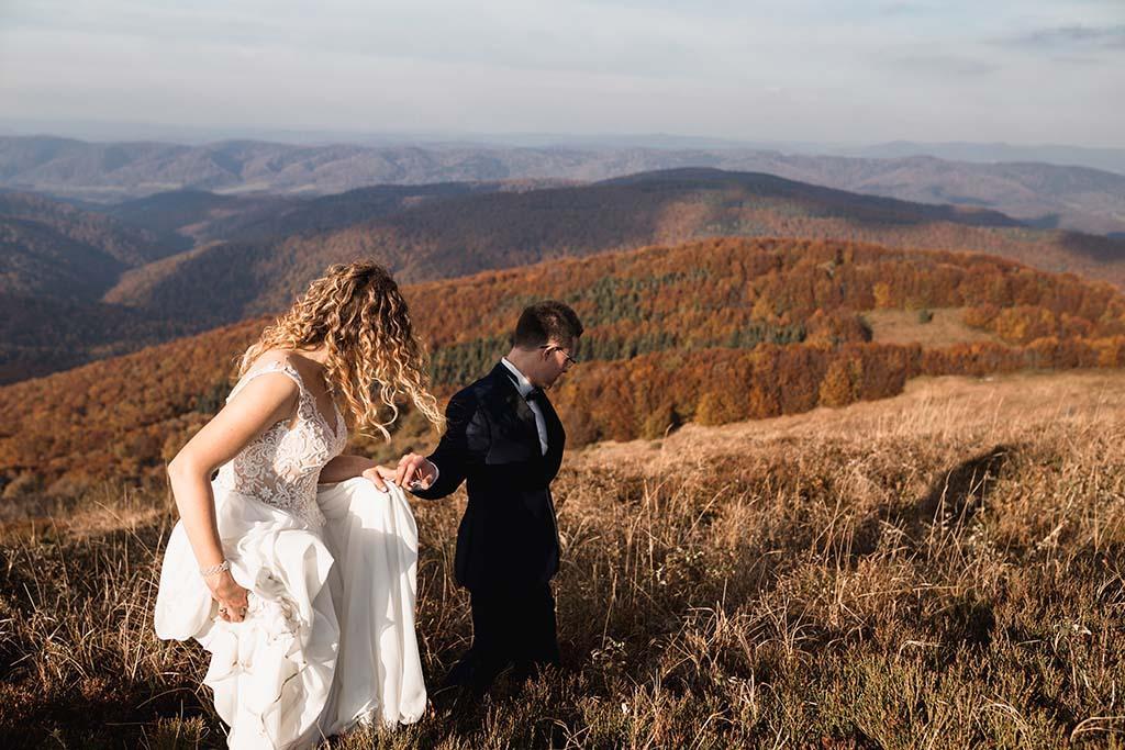 Połonina Wetlińska plener ślubny
