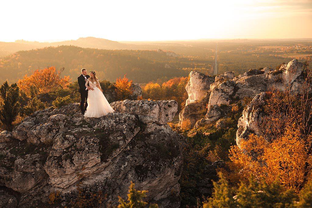 plener ślubny góra zborów
