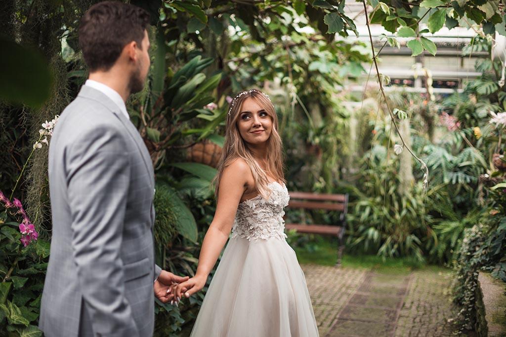 plener ślubny w łańcucie